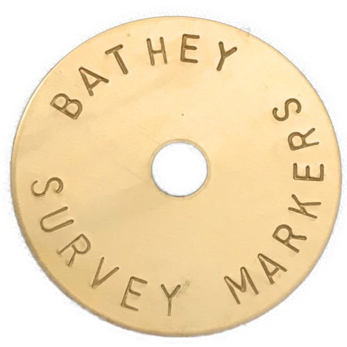 brass disk survey markers