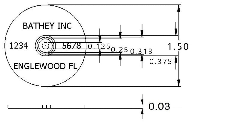 "1 1/2"" Stainless Disk - Arc Text"