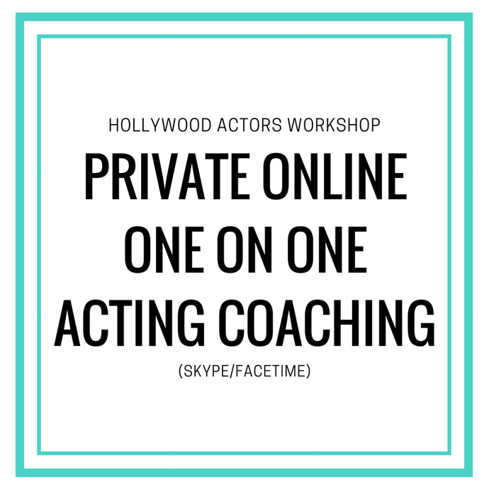 Private Online One On One Acting Coaching (30 Minutes)