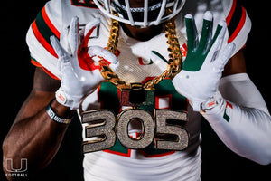 "The Miami Hurricanes introduce this season's ""Turnover Chain"""