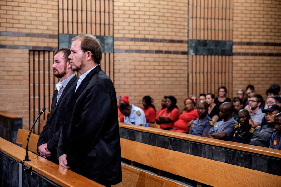White South African farmers who killed black teenager for 'stealing sunflowers' jailed for 41 years
