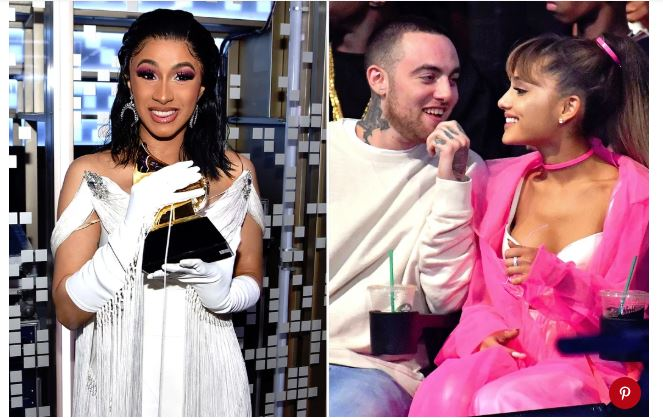 Cardi B Is 'Sharing This Grammy' with Mac Miller After Ariana Grande Airs Frustration He Lost