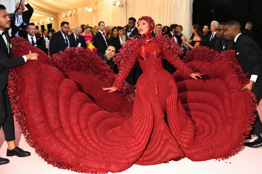 Cardi B's enormous train steals the spotlight at the 2019 Met Gala