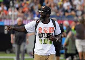 Ed Reed wears shirt displaying black victims of police brutality during NFL Hall of Fame Game