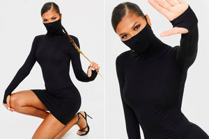 Turtleneck Dress with Facemask  Sells Out After Supermodel's Sister Rocks It