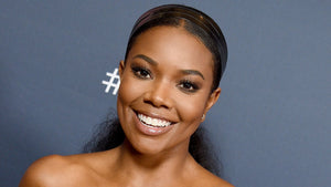 Gabrielle Union Rocks Gown With Dwyane Wade's Face On It