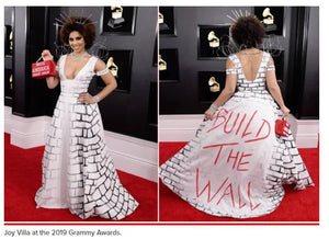 Joy Villa dresses as Trump's border wall at 2019 Grammys