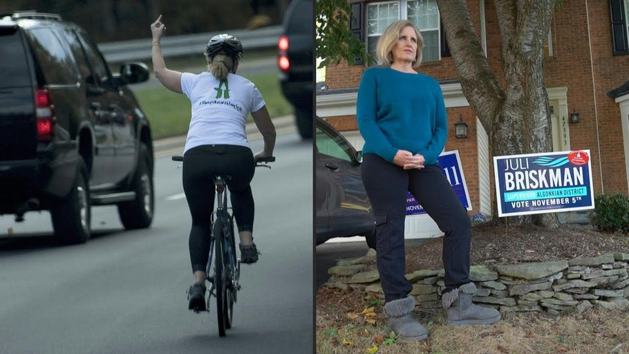 Cyclist who lost her job for flipping off President Trump's motorcade wins local office in Virginia