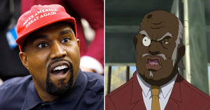 Google replaced Uncle Ruckus of 'The Boondocks' with a photo of Kanye West in a MAGA hat