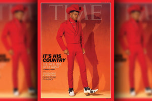 Lil Nas X is red hot on his first TIME cover