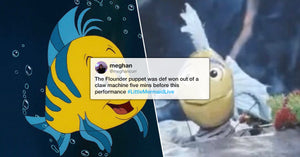 The Little Mermaid Live's Flounder Puppet Was Absurdly Creepy