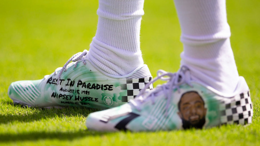 DeSean Jackson honors Nipsey Hussle with custom cleats during his strong Philadelphia homecoming
