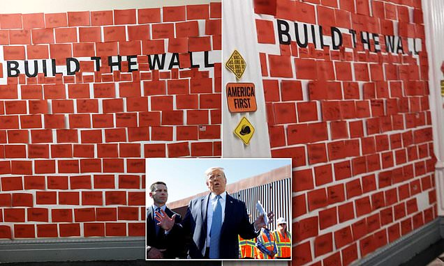 Children encouraged to 'build the wall' during White House Halloween party