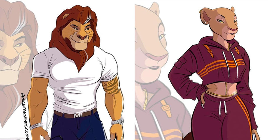 An Artist Gave Lion King Characters a Humanlike Makeover, and Wow