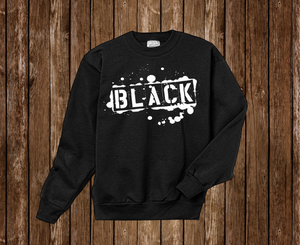 "Black Cotton ""BLACK TAG"" Crewneck Black"