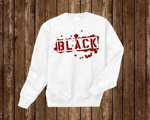 "Black Cotton ""BLACK TAG"" Crewneck White"