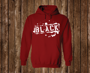 "Black Cotton ""BLACK TAG"" Hoodie Red"