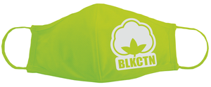 "BLACK COTTON ""COTTON BALL LOGO"" Face Mask (GREEN)"