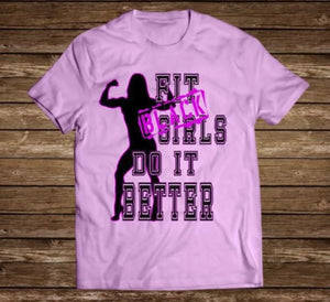"Black Cotton ""Fit Black Girls"" Womens Tee"