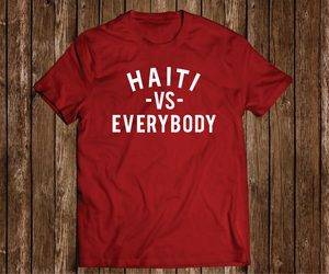 "Black Cotton ""Haiti VS Everybody"" Red Tee"