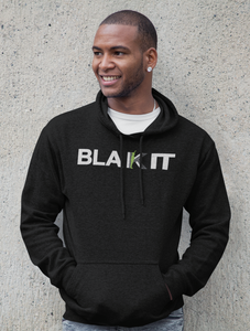 "Black Cotton ""BLAKIT"" Hoodie - BLACK"
