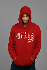 "Black Cotton ""BLACK TAG"" Hoodie - RED"