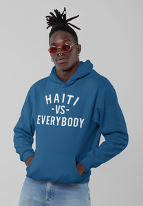 "Black Cotton ""Haiti Vs Everybody"" Hoodie - BLUE"