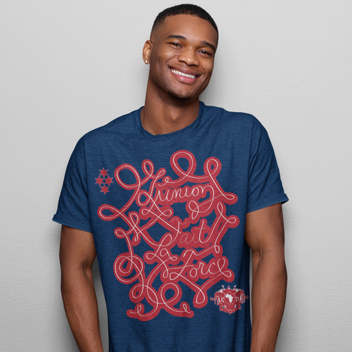 Haiti Motto Version 2 Shirt (BLUE)