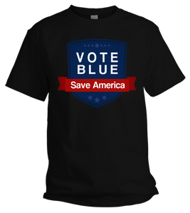VOTE BLUE/SAVE AMERICA T-SHIRT (Black)