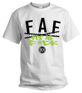 "Black Cotton ""Fit As F*ck""  Shirt (WHITE)"