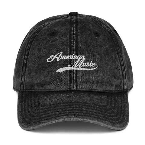 American Music Vintage Cotton Twill Cap
