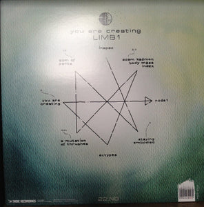 22 You Are Creating: Limb1 LP Clear W/Green Spots Vinyl Norway Import Rock NEW