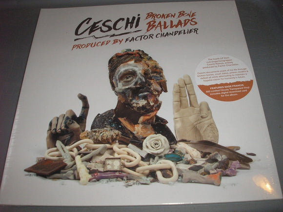 Ceschi Broken Bone Ballads LP Limited Ed 500 Cloudy Transparent Vinyl BRAND NEW