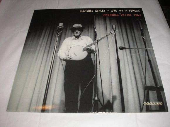 Clarence Ashley Live And In Person (Greenwich Village) LP Vinyl Folk Banjo NEW