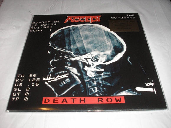 ACCEPT DEATH ROW 2 LP 180 Gram RED Colored Audiophile Vinyl Ltd MOV Import NEW SEALED