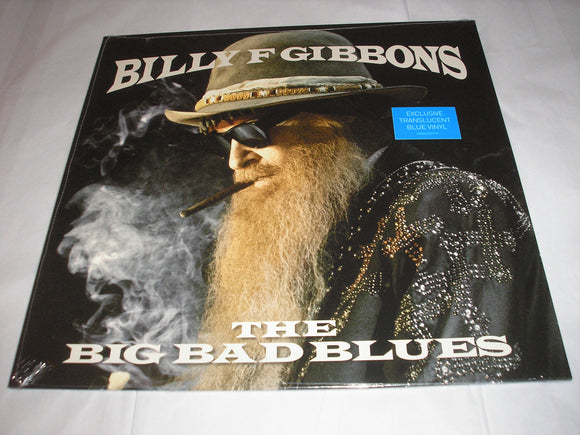 Billy F Gibbons The Big Bad Blues LP Translucent Blue Vinyl EU Import NEW SEALED