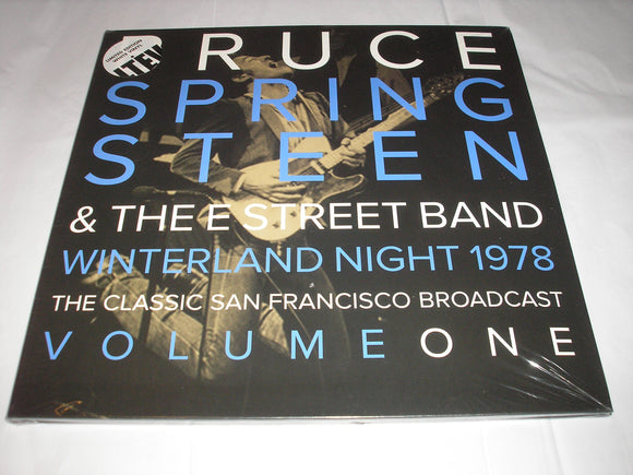 Bruce Springsteen Winterland Night Vol. 1 2 LP WHITE Vinyl Ltd Ed LTEV NEW SEALED