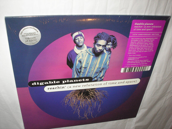 Digable Planets Reachin' A New Refutation Of Time and Space 2 LP BLUE / PURPLE Blend Vinyl 25th Ltd NEW