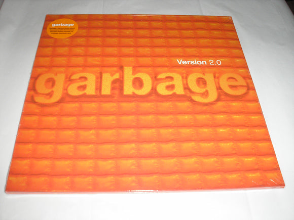 Garbage Version 2.0 2 LP Orange Color Vinyl & Download 2018 Remastered NEW SEALED