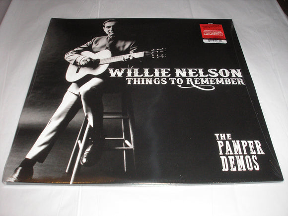 Willie Nelson Things to Remember The Pamper Demos 2 LP RED Color Vinyl Ltd NEW SEALED