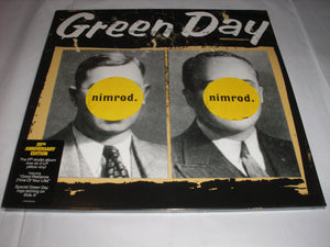 Green Day Nimrod 20Th Anniversary Ed 2 LP YELLOW Etched Vinyl EU Import NEW SEALED