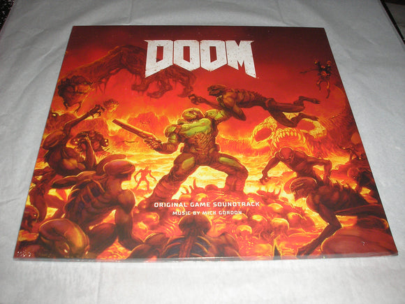 DOOM Original Video Game Soundtrack 2 LP 180 Gram RED Color Vinyl NEW SEALED