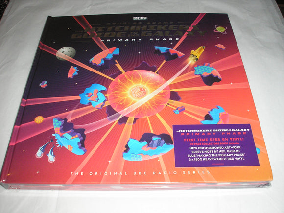 The Hitchhiker's Guide to the Galaxy Primary Phase 3 LP 180 Gram RED COLOR Vinyl Box Set UK Import NEW SEALED