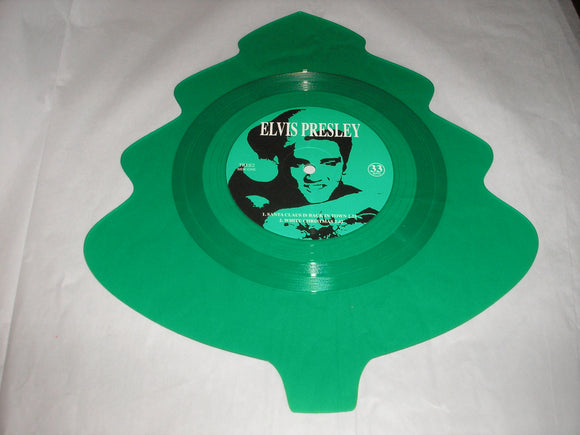 Elvis Presley Santa Claus Is Back In Town 4 Song EP CHRISTMAS TREE GREEN Vinyl MOV Import NEW