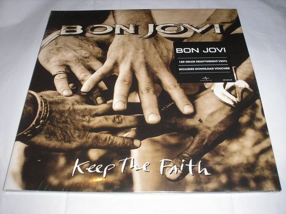 Bon Jovi Keep The Faith 2 LP 180 Gram Vinyl & Download EU Import Gatefold NEW SEALED