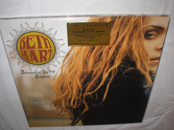 Beth Hart Screamin' For My Supper 2 LP 180 Gram GOLD & RED Mixed ETCHED Vinyl Ltd MOV NEW SEALED