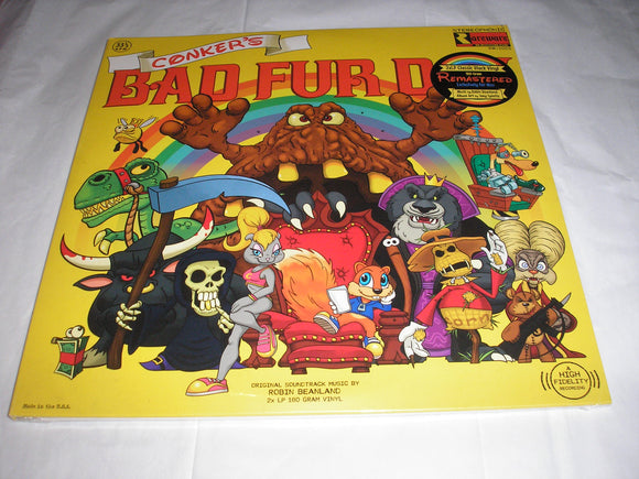Conkers Bad Fur Day Video Game Soundtrack 2 LP BLACK Remastered Vinyl NEW SEALED