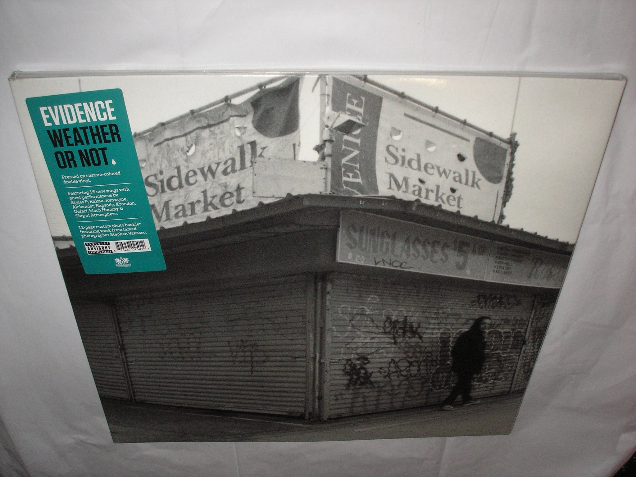 Evidence Weather Or Not 2 LP Blue Colored Vinyl tri-fold jacket 12-page  photo booklet & Download NEW