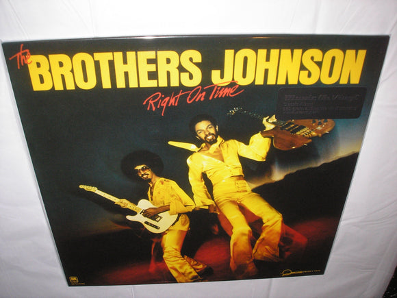 The Brothers Johnson Right On Time LP 180 Gram BLACK Audiophile Vinyl MOV Import NEW SEALED