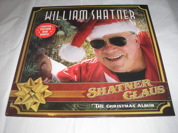William Shatner Shatner Claus: The Christmas Album LP Red Vinyl Ltd Ed feats. Henry Rollins, Billy Gibbons, Judy Collins, Brad Paisley, Rick Wakeman, Iggy Pop, Todd Rundgren NEW SEALED